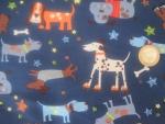 Baumwoll-Stoff Hunde