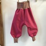 "Nähpaket Regenhose "" Softshell pink Gr. 80- 110"